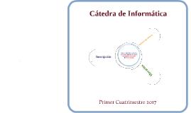 Inscripción Informática - Primer Cuatrimestre 2017