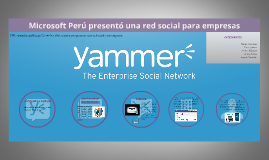 Microsoft Perú presentó una red social para empresas