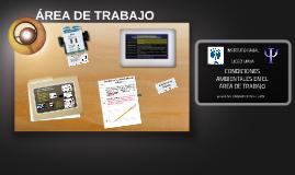 CONDICIONES AMBIENTALES EN EL AREA DE TRABAJO Carmen