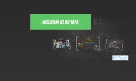 Welkom klas MH 1 E !!