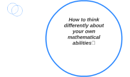How to think differently about your own mathematical abiliti
