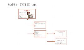 MAPE 3 - UNIT III - Art
