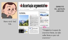 A dissertação argumentativa