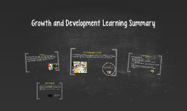 Growth and Development Learning Summary