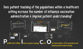 Does patient teaching increase the number of influenza vacci