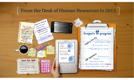 Copy of From the Desk of Human Resources 2013