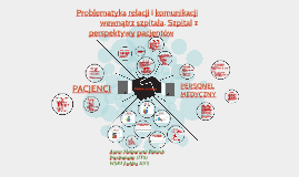 Copy of Problematyka relacji i komunikacji wewnątrz szpitala