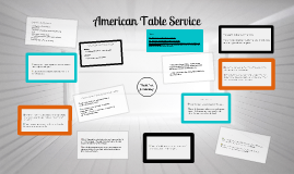 AMERICAN TABLE SERVICE