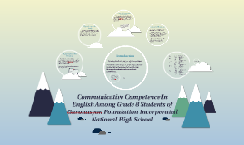 Communicative Competence In English Among Grade 8 Students o