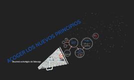ACOGER LOS NUEVOS PRINCIPIOS