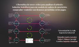 Cibernética de tercer orden para analizar el articulo: Solución Stalckberg para un modelo de cadena de suministro comprador-vendedor con demoras permitidas en los pagos.