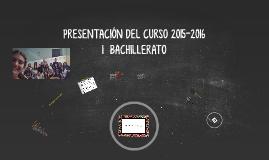 Copy of PRESENTACIÓN DEL CURSO 2015-2016