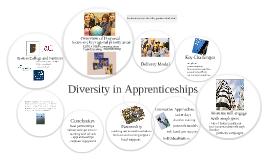 Diversity in Apprenticeships