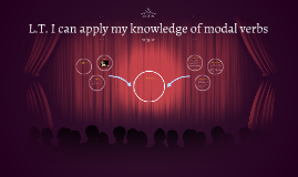 L.T. I can apply my knowledge of modal verbs