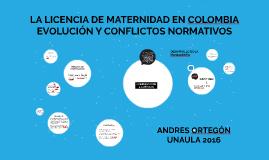 LA LICENCIA DE MATERNIDAD EN COLOMBIA