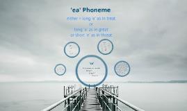 'ea' Phoneme