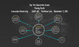 Top Ten Education Issues
