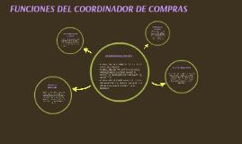 FUNCIONES DEL COORDINADOR DE COMPRAS