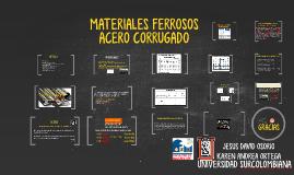 MATERIALES FERROSOSACERO CORRUGADO