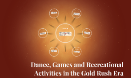 Dance, Games and Recreational Activities in the Gold Rush Er