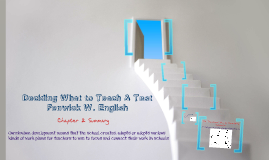 Chapter 2: Deciding what to teach  & test