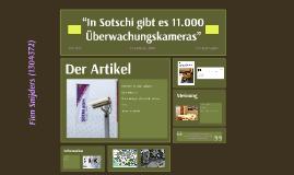 """""""In Sotschi gibt es 11.000 Überwachungskameras"""""""