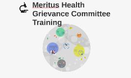 Meritus Health Grievance Committee Training