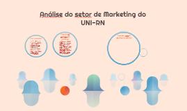 Análise do setor de Marketing do UNI-RN