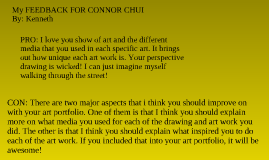Feedback for the lollipopmonster aka: Connor Chui :D