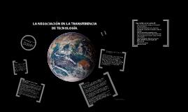la negociación en la transferencia de tecnologia