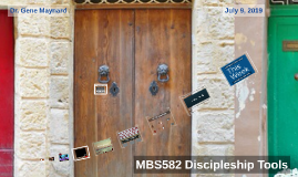 Week Five: Discipleship Tools