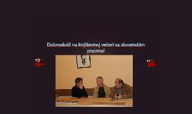 Dobrodošli na književnoj večeri sa slovenskim piscima!