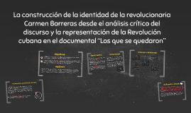 """La representación de la Revolución cubana en el documental """""""