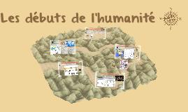 Les débuts de l'humanité