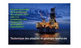 Tectonique des plaques et géologie appliquée