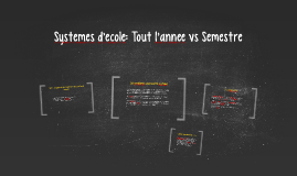 Systemes d'ecole