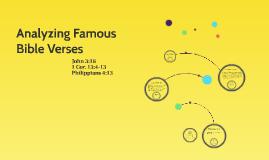 Analyzing Famous Bible Verses
