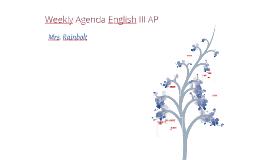 Weekly Agenda AP