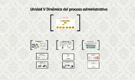 Unidad V Dinámica del proceso administrativo