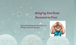 Pasting From Document to Prezi