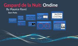 Gaspard de la Nuit: Ondine