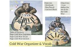 Cold War Organizer & Vocab