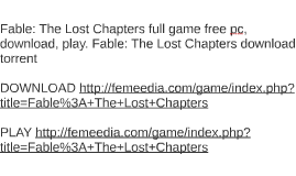 Fable: The Lost Chapters full game free pc, download, play.