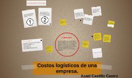 Costos logísticos de una empresa.