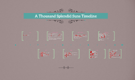 Copy of A Thousand Splendid Suns Timeline