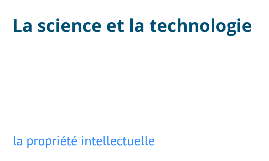 La science & la technologie