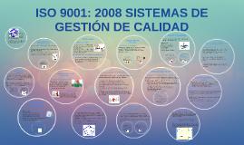 ISO 9001: 2008 SISTEMAS DE GESTIÓN DE CALIDAD