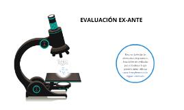 EVALUACIÓN EX-ANTE
