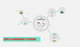 FUNTES DE GENERACIÓN DE ELECTRICIDAD
