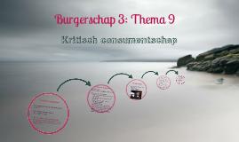 Burgerschap 2: Thema 25: Kritisch consumentschap